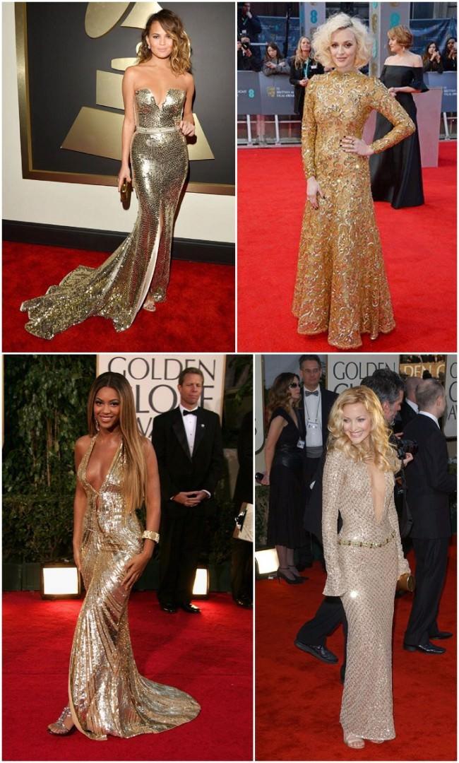 Gold awards dresses