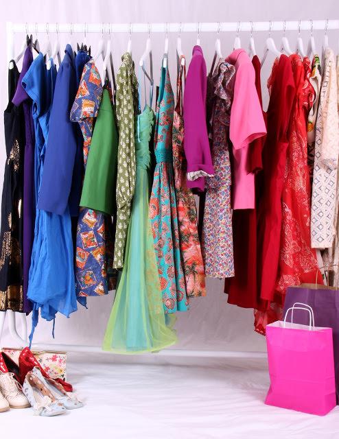 wardrobe of clothes
