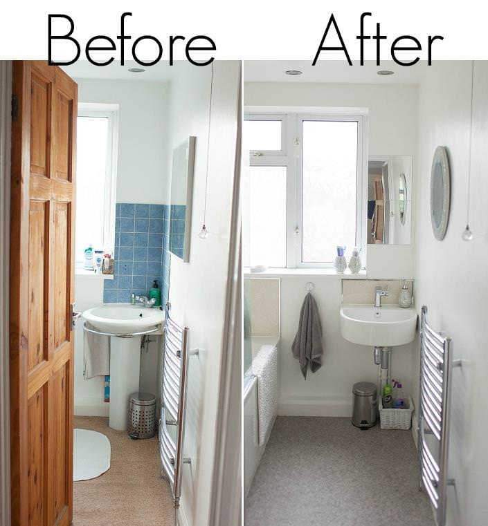 real homes before and after my bathroom a boho life