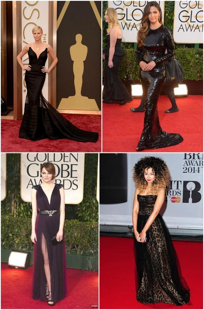 black awards dresses