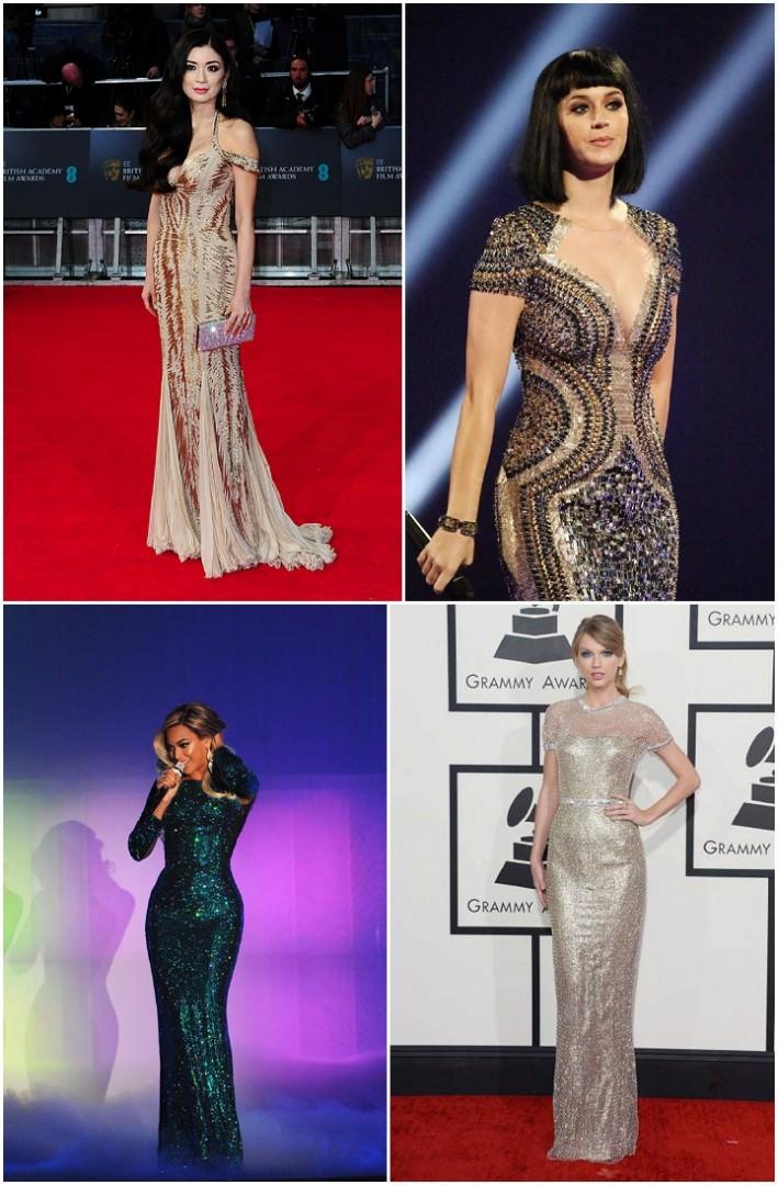 glitter awards dresses