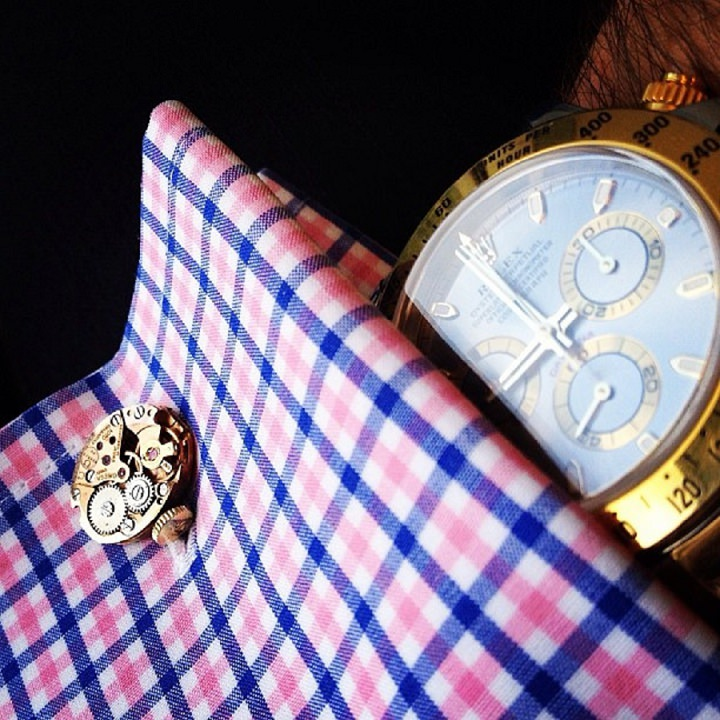 5 Time Tailored cufflinks