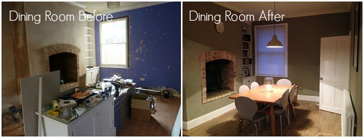 8 Lounge and Dining Room Before and After