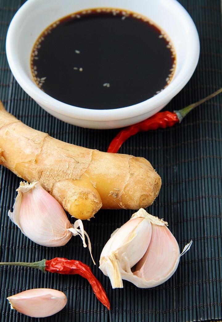 soy sauce and garlic