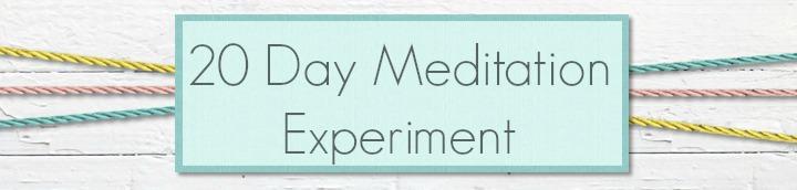 20 day meditation experiment