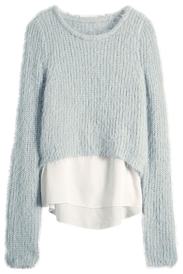 next blue fluffy jumper