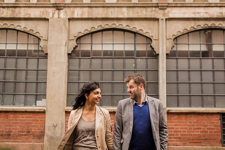 Sarah + Mark's Brick Lane and Shoreditch pre wedding photography shoot